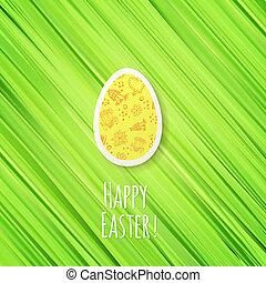 verzierung, eier, ostern, grüner hintergrund