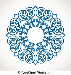 verzierung, pattern., runder