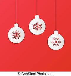 verzierungen, weihnachten, abbildung