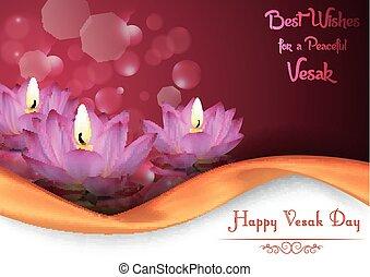 Vesak Day background banner