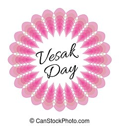 Vesak day card with pink lotus
