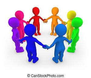veselý, národ., jednota, malý, concept., 3