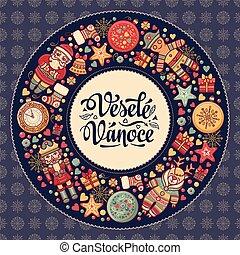 Vesele vanoce - greeting cards. Xmas in the Czech Republic....