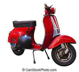 Vespa, Italian scooter isolated on white background