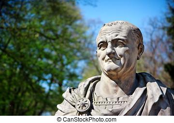 Vespasian Portrait - Roman Emperor Bust - The copy sculpture...