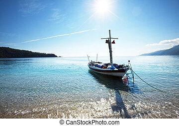 Vessel - boat in bay