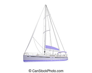 Vessel boat isolated front view