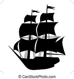 vessel - silhouette of vessel