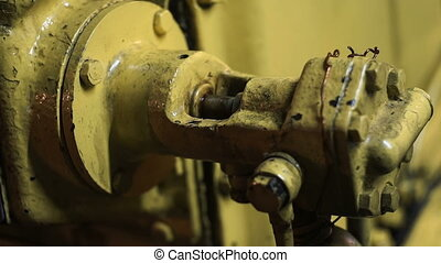 Vessel engine room detail