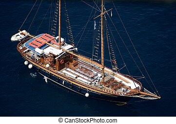 Vessel in Santorini, Greece