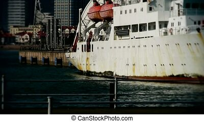 Vessel Parking on water at Pier