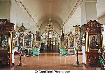 vestíbulo, 6679., interior, belleza, iglesia