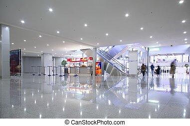 vestíbulo, centrocomercial
