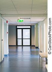 vestíbulo, en, hospital