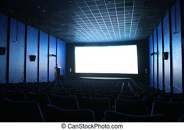 vestíbulo, vacío, cine