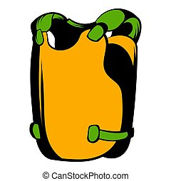 Vest icon cartoon