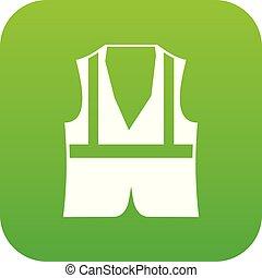 Vest icon digital green