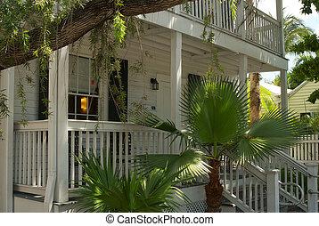 vest, typiske, arkitektur, nøgle, florida.