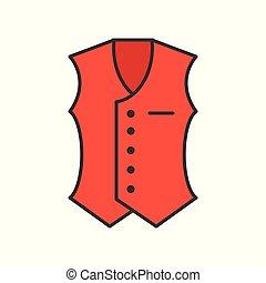 vest vector, filled color outline editable stroke