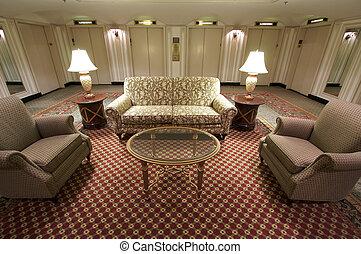 vestibule, ascenseur, classique