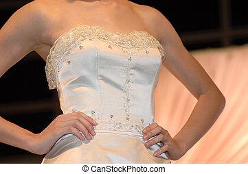 vestido, boda