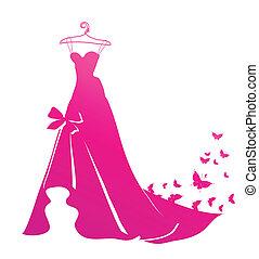 vestido, casório, desenho