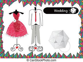 vestido casamento, abstratos