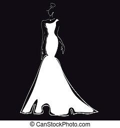vestido de la boda