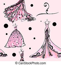 vestido de la boda, diseño, patrón