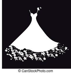 vestido, desenho