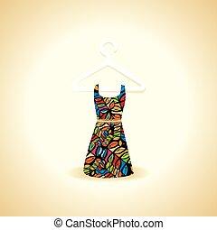 vestido, diseño
