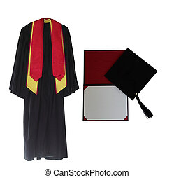 vestido, graduação