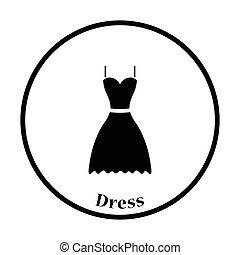 vestido, icono