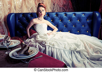 vestido, luxuoso