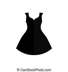 vestido negro, icono