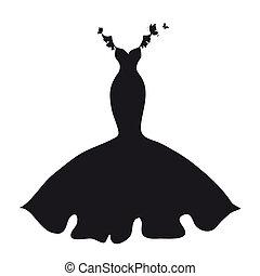 vestido, silueta