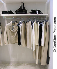 vestiti, in, negozio