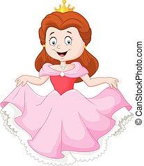 vestito colore rosa, cartone animato, principessa