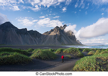 Vestrahorn mountain and Stokksnes, Iceland
