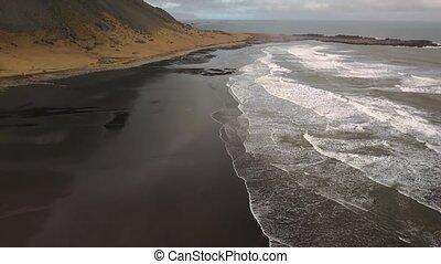 Vestrahorn, Stokksnes, Iceland, aerial footage - Iceland...