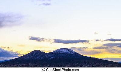 Vesuvius at sunrise. Time Lapse