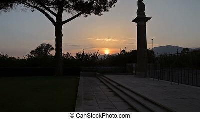 Minturno war cemetery - Vesuvius volcano, Italy. May 2015...