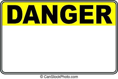 Veszély, aláír