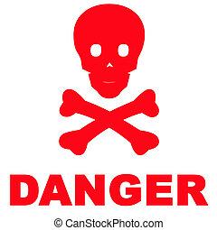 veszély cégtábla
