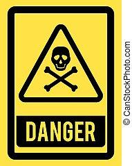 veszély, design.