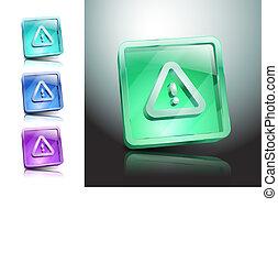 veszély, felszólít cégtábla, hiba, ikon, figyelmeztet