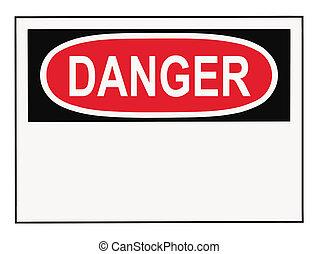 veszély, felszólít cégtábla