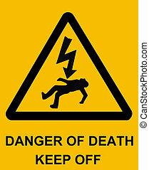 veszély, közül, halál