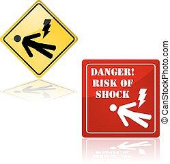 veszély, közül, rázkódás