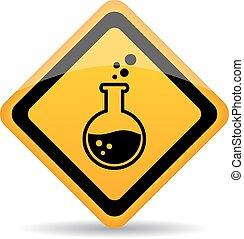veszély, vegyszerek, felszólít cégtábla